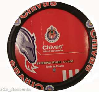 Chivas Mexico Soccer car truck steering wheel cover New